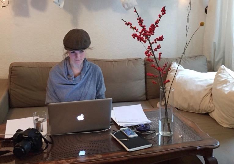 Maja arbeitet