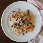 Kürbisrisotto mit gesalzenen Buttermandeln – also so ein Alltagsverschönerungs-ich mach mir das Leben sauschön-Ding