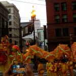 The chinese new year parade